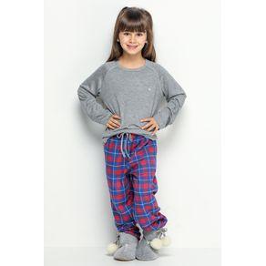 Pijama Longo Mini de Flanela - Xadrez Pic Nic 6