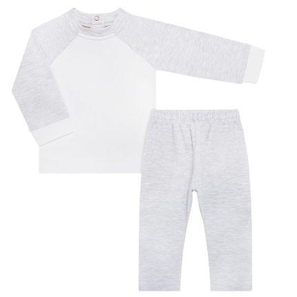 Pijama Longo para Bebê C/ Repelente Natural em Cotton Mescla - Nutti
