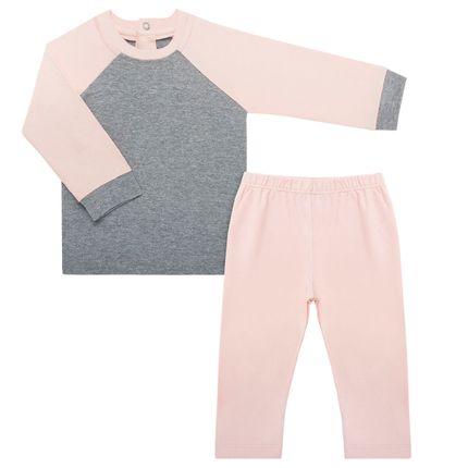 Pijama Longo para Bebê C/ Repelente Natural em Cotton Rosê - Nutti