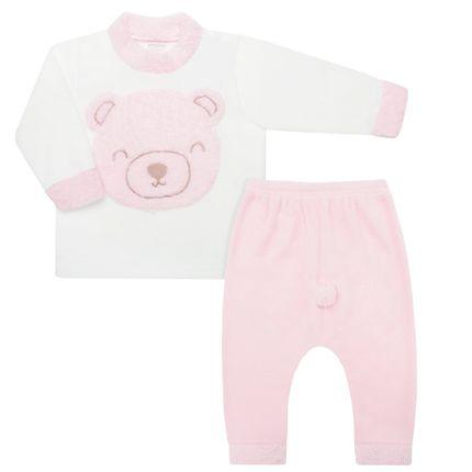 Pijama Longo para Bebê em Microsoft Ursinha - Dedeka
