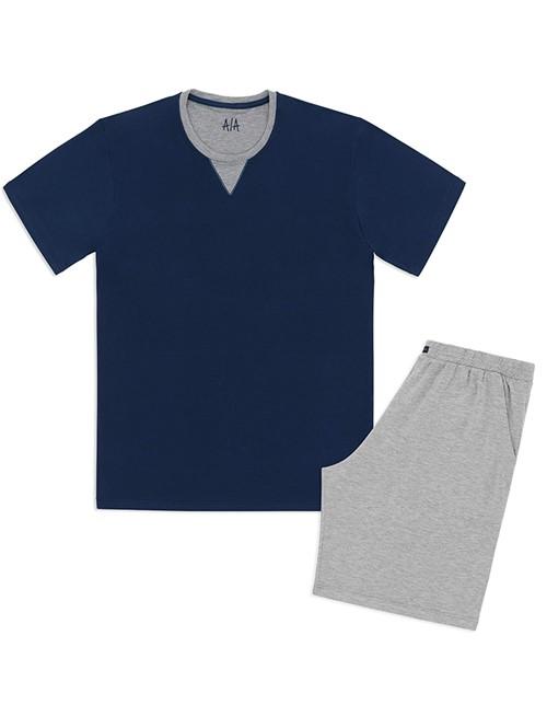 Pijama Masculino Basic Men Azul P