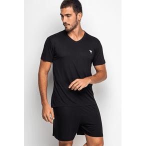 Pijama Masculino Curto - Black J8 P