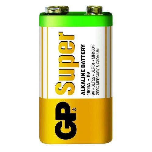 Pilha 9V Super Alcalina Gp