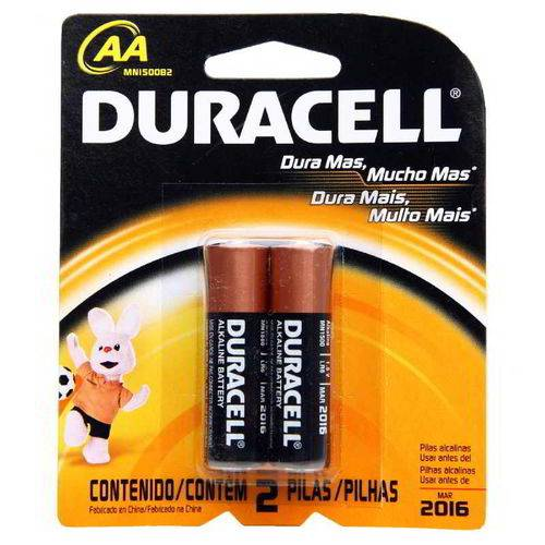 Pilha Aa Alcalina com 2 - Duracell