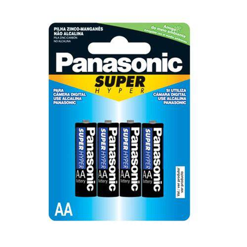 Pilha Aa Com4 Super Hyper Panasonic