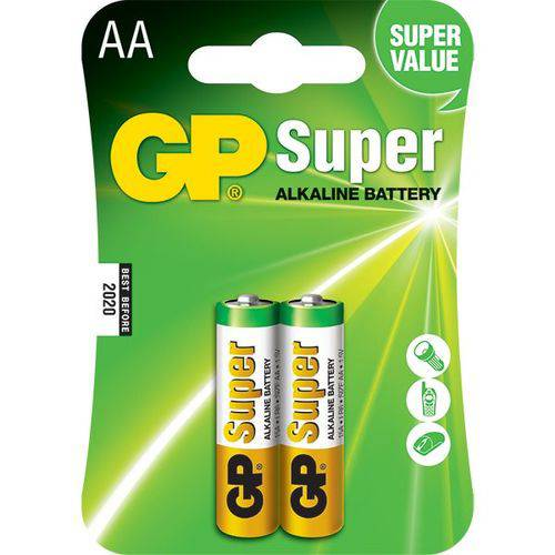 Pilha Aa Super Alcalina 15a-c2 Gp