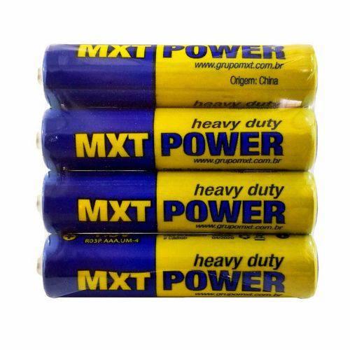 Pilha Aaa Palito 1,5v Super Heavy Duty Mxt Power 4 Unidades
