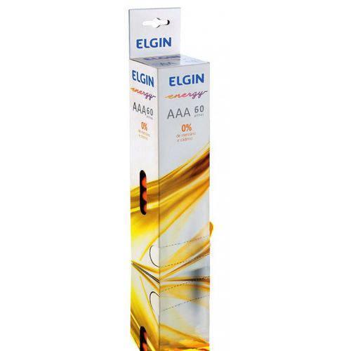 Pilha Aaa Pequena Zinco Energy 1,5v Tubo C/ 60 Pilhas Elgin