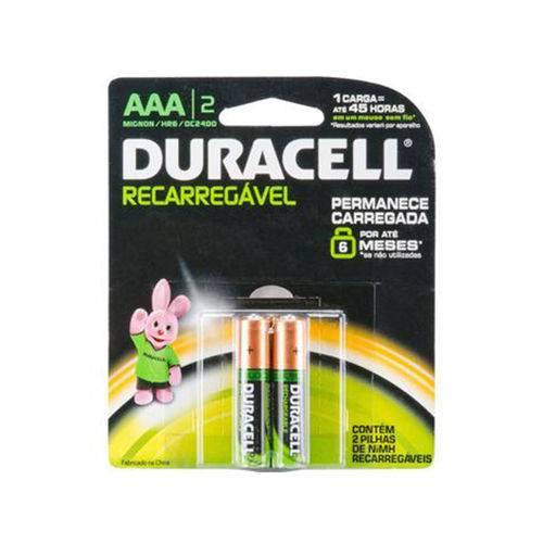 Pilha AAA Recarregável Duracell 750mah