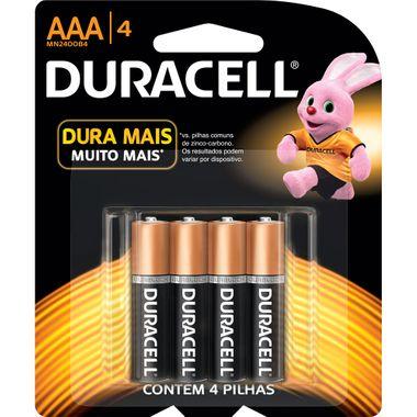 Pilha Acalina AAA Duracell 4un.