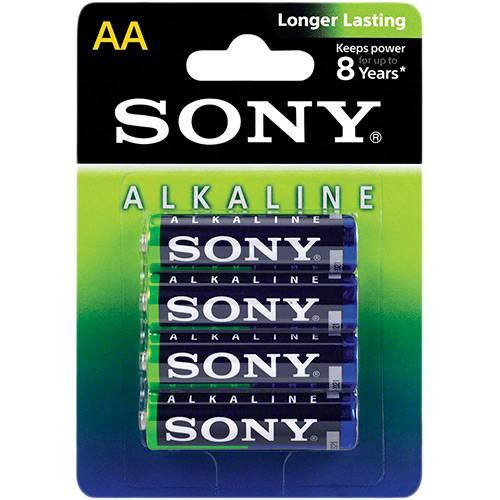 Pilha Alcalina Aa Sony com 4 Unidade