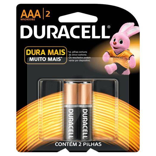 Pilha Alcalina Aaa 1.5 Volts com 02 Unidades - Duracell
