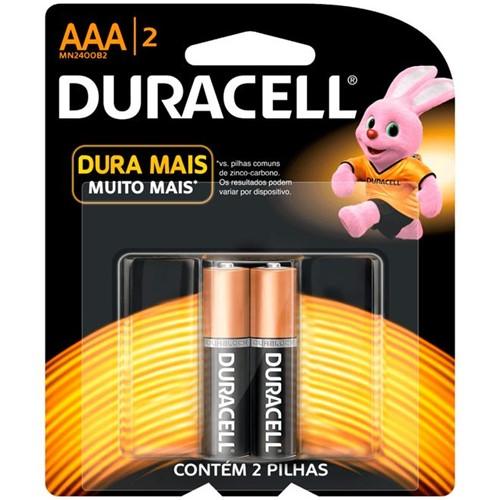 Pilha Alcalina AAA Palito com 2 Unidades - Duracell
