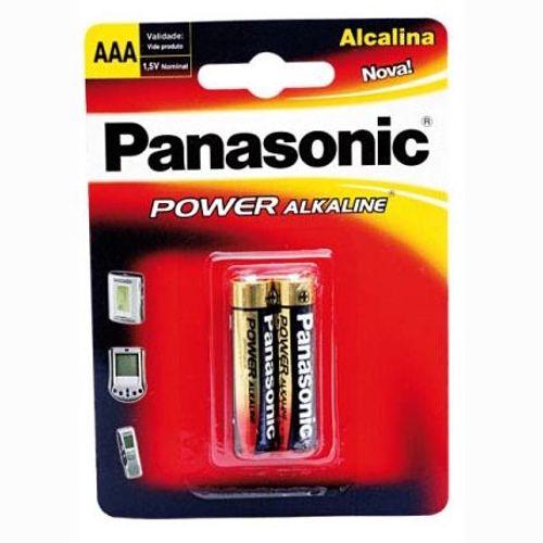 Pilha Alcalina AAA Panasonic - 2 Unidades 40249