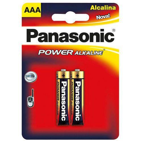 Pilha Alcalina Aaa Panasonic - 2 Unidades