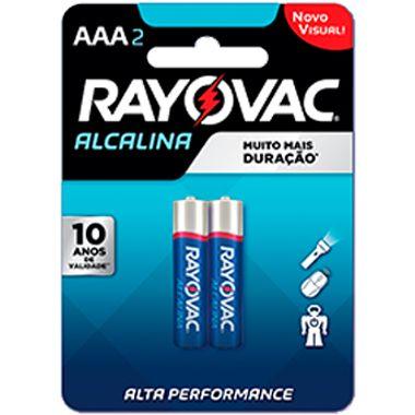 Pilha Alcalina AAA Rayovac 2un.