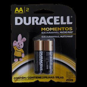 Pilha Alcalina Duracell AA C/ 2 Unidades