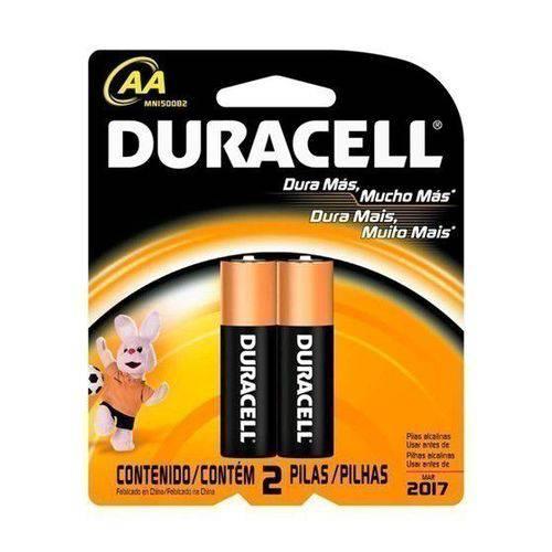 Pilha Alcalina Duracell Aa Pequena 1.5v - 2 Unidades