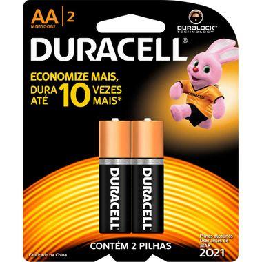 Pilha Alcalina Duracell AA 2 Unidades