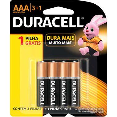 Pilha Alcalina Duracell AAA L4-P3
