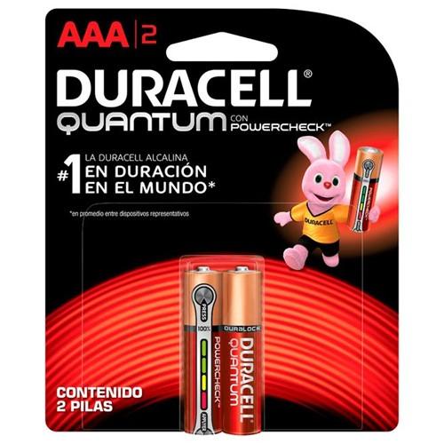 Pilha Alcalina Palito AAA Quantum com 2 Unidades – Duracell