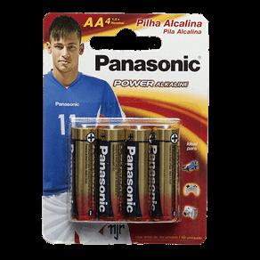 Pilha Alcalina Panasonic Power Alkaline AA C/ 4 Unidades