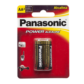 Pilha Alcalina Panasonic Power Alkaline AA C/ 2 Unidades