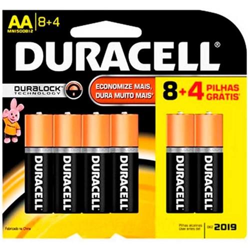 Pilha Alcalina Pequena AA Cartela com 12 Unidades - Duracell