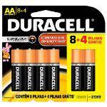 Pilha Alcalina Pequena Aa Leve 12 Pague 8 – Duracell