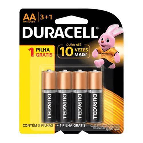 Pilha Alcalina Pequena Aa Leve 4 Pague 3 - Duracell