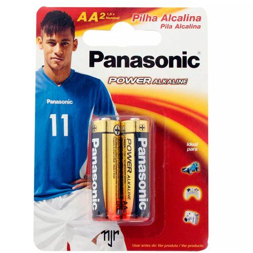 Pilha Alcalina Pequena Power Alkaline AA 2 Unidades - Panasonic
