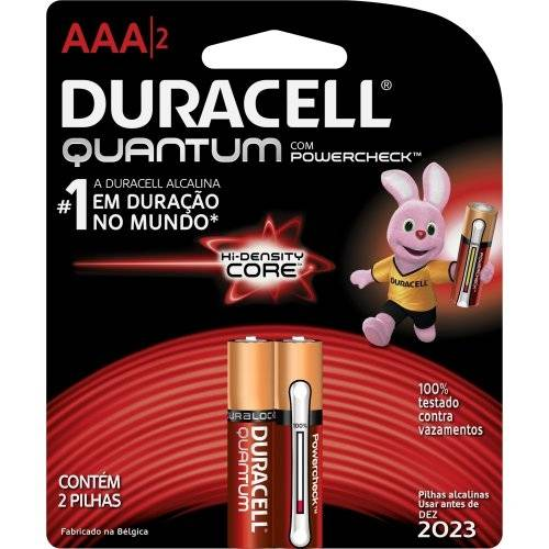 Pilha Alcalina Quantum Aaa C/2 Pçs 56691 - Código 11148 Duracell