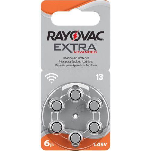 Pilha Aparelho Auditivo 13 Rayovac Extra Advanced