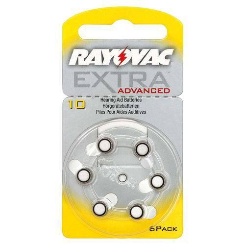 Pilha Aparelho Auditivo 10 Rayovac Extra Advanced