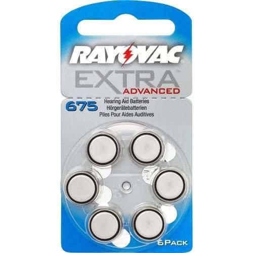 Pilha Aparelho Auditivo 675 Rayovac Extra Advanced