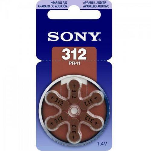 Pilha Auditiva 312 1,4V PR312 D6A Sony