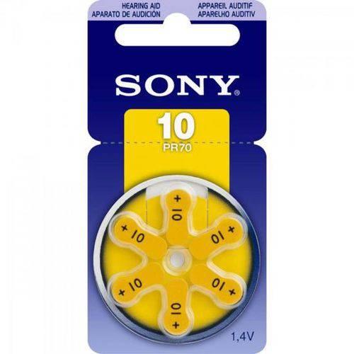 Pilha Auditiva 10 1,4v Pr10 D6a Sony