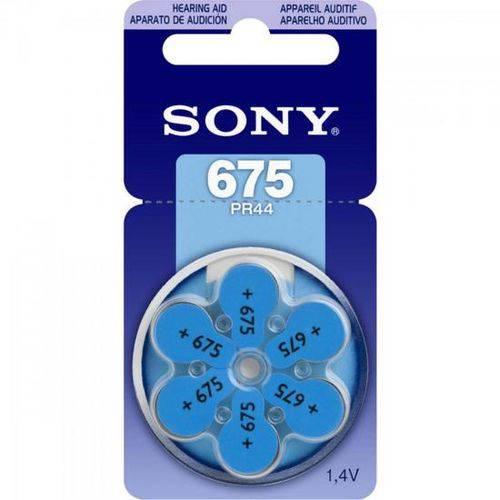 Pilha Auditiva 675 1,4v Pr675 D6a Sony - Caixa C/ 6 Unidades