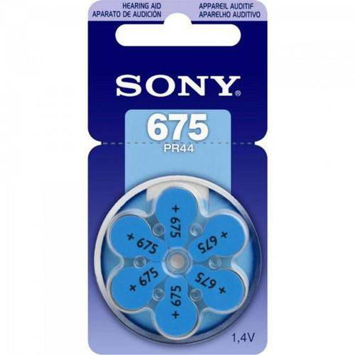 Pilha Auditiva 675 1,4v Pr675 D6a Sony