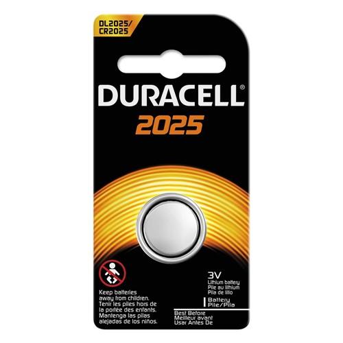 Pilha Botão Lithium Duracell CR 2025 3V 1 Unidade