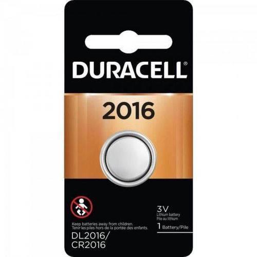 Pilha Botao 3v Litio Cr2016 Duracell Cartela C/1 Pilha