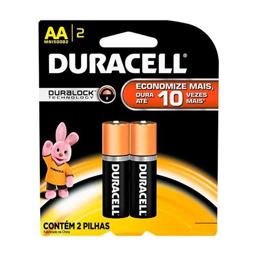 Pilha Duracell AA Alcalina 2 Unidades