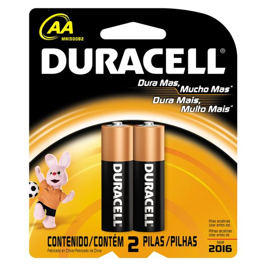 Pilha Duracell Aa P com 2 Unidades