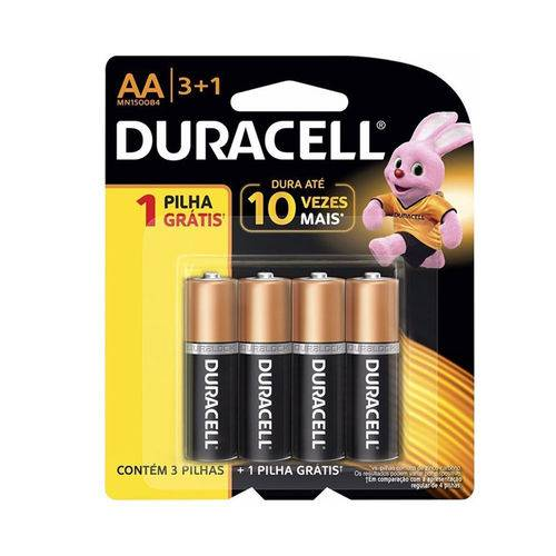 Pilha Duracell Aa Pack com 4 Unidades - Mn1500b4