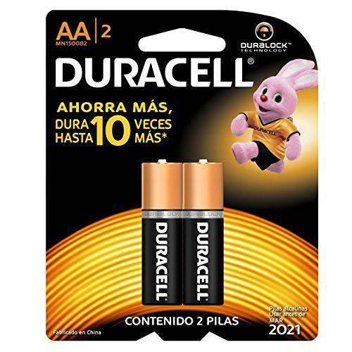 Pilha Duracell AA Pequena com 2 Uni Alcalina