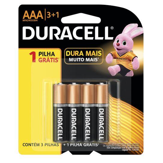 Pilha Duracell Aaa 3+1 Leve 4 Pague 3