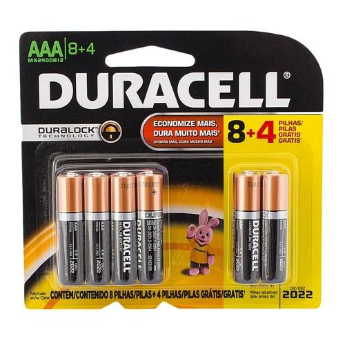 Pilha Duracell AAA Alcalina Leve 12 Pague 8