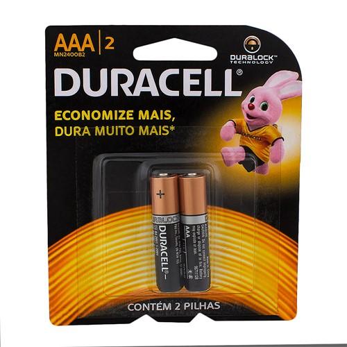 Pilha Duracell AAA Alcalina 2 Unidades