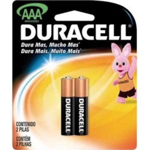 Pilha Duracell AAA - 2 Unidades