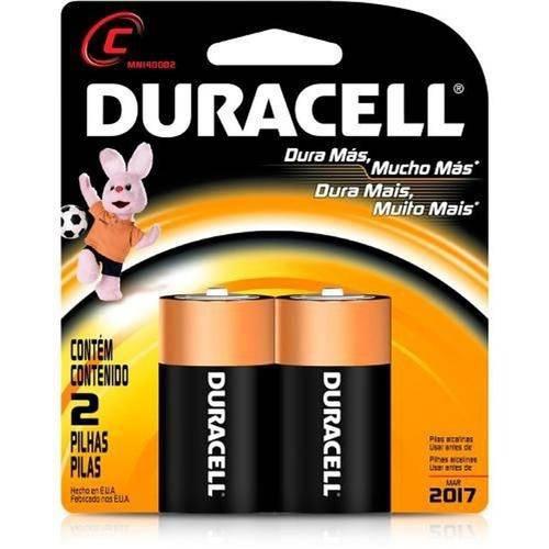 Pilha Duracell Alcalina com 2un C Media